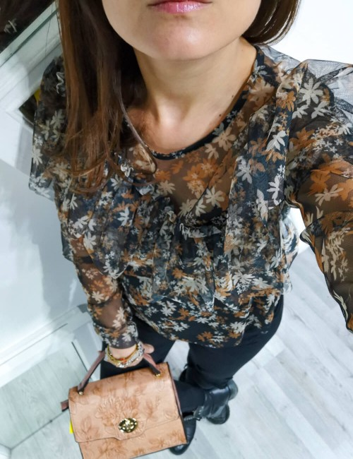 Camicia Tulle Ruches