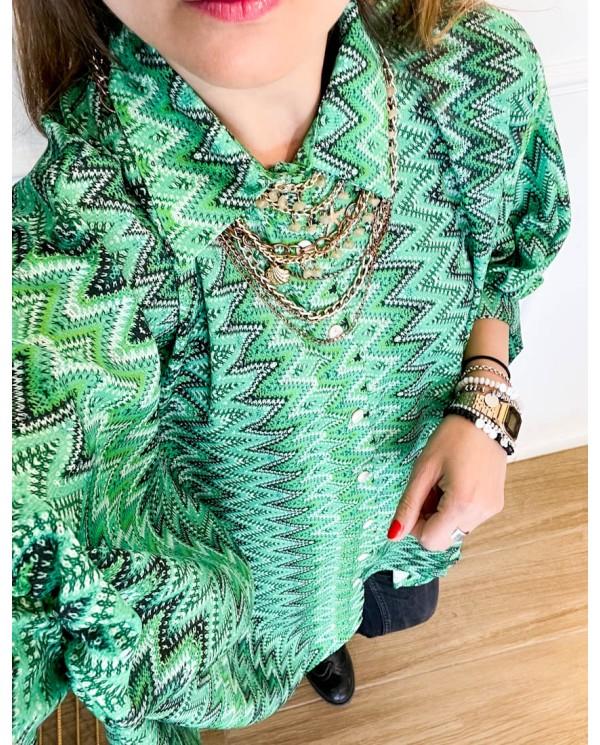 Camicia Bicolor Foglie